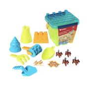 Bravokids桶装城堡沙滩玩具儿童礼物