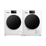 法乐变频滚筒全自动洗衣机热泵式烘干机干衣机洗烘套装10+9